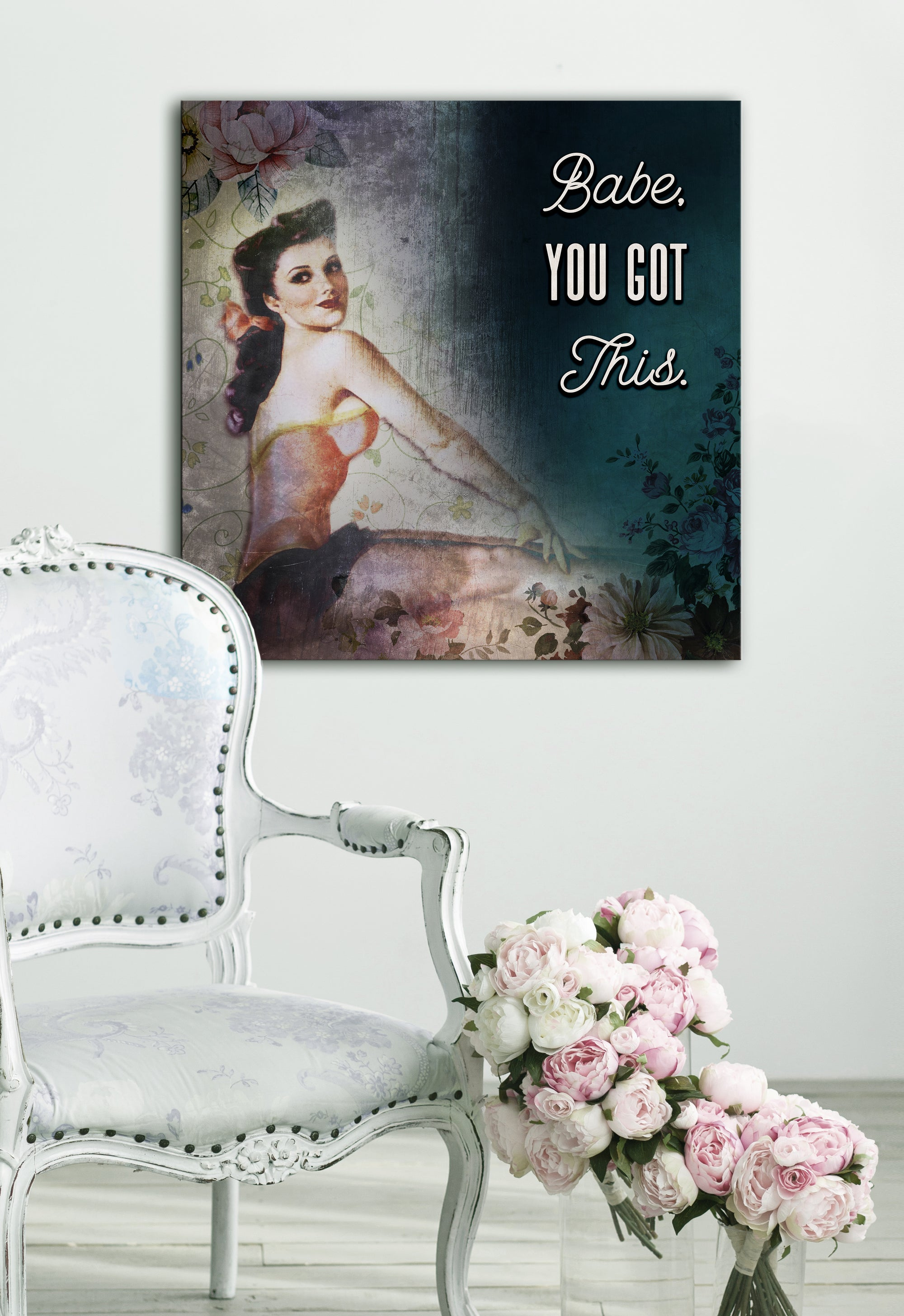 Powerful Women Wall Art: Babe You Got This (Wood Frame Ready To Hang