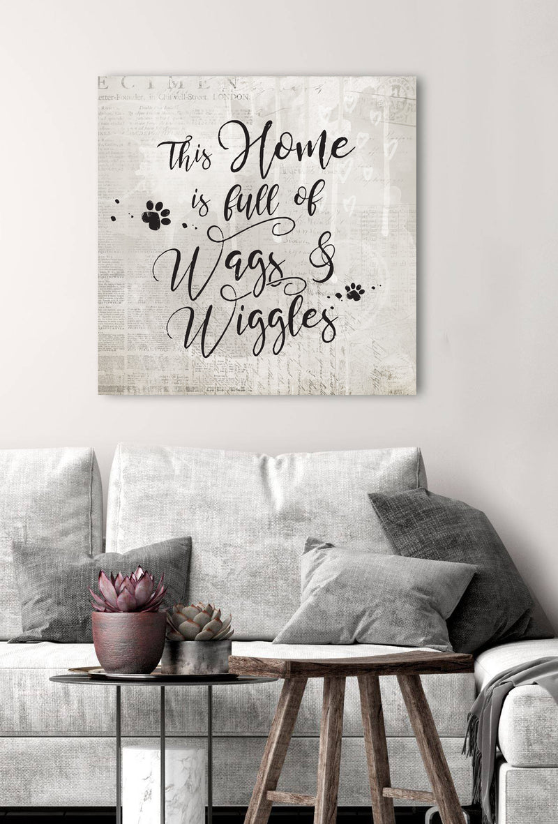 Pet Wall Art: Wags & Wiggles (Wood Frame Ready To Hang)