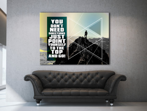 Business Wall Art: You Don't Need Directions (Wood Frame Ready To Hang)