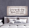 Couples Wall Art: You Are The Best (Wood Frame Ready To Hang)