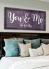 Image of Couples Wall Art: You & Me We Got This (Wood Frame Ready To Hang)