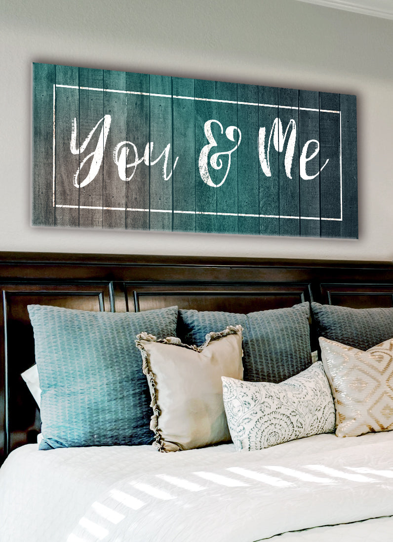 Couples Wall Art: You & Me V3 (Wood Frame Ready To Hang)