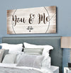 Pet Wall Art: You and Me and the fur baby (Wood Frame Ready To Hang)