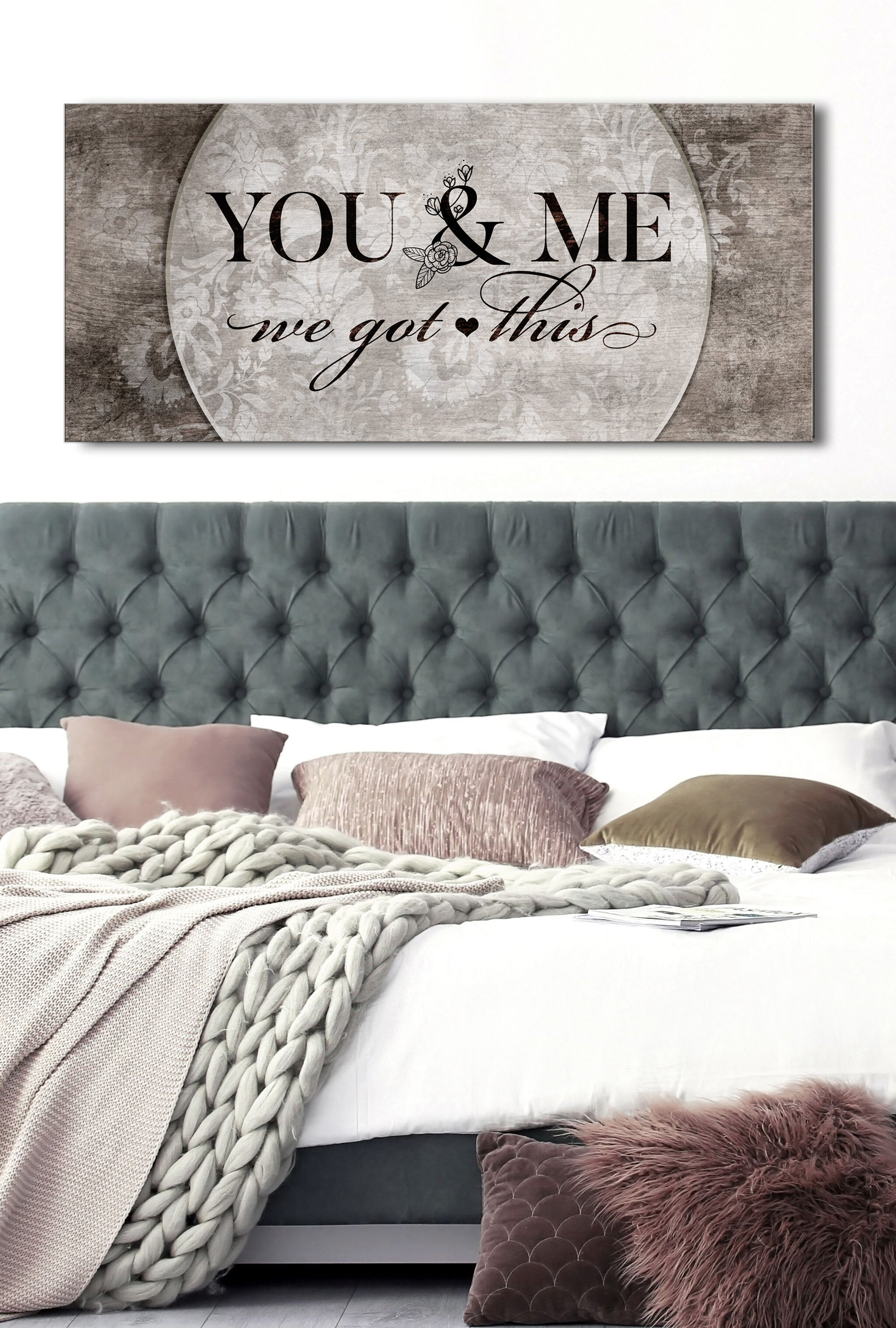 Couples Wall Art: You & Me We Got This V5 (Wood Frame Ready To Hang)