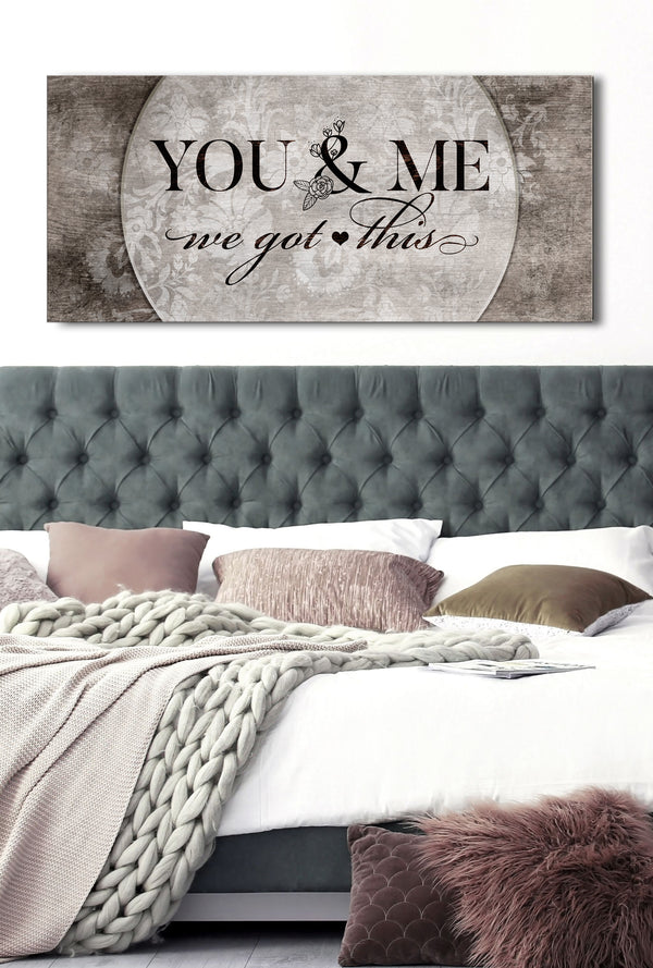 Couples Wall Art You Amp Me We Got This V5 Wood Frame