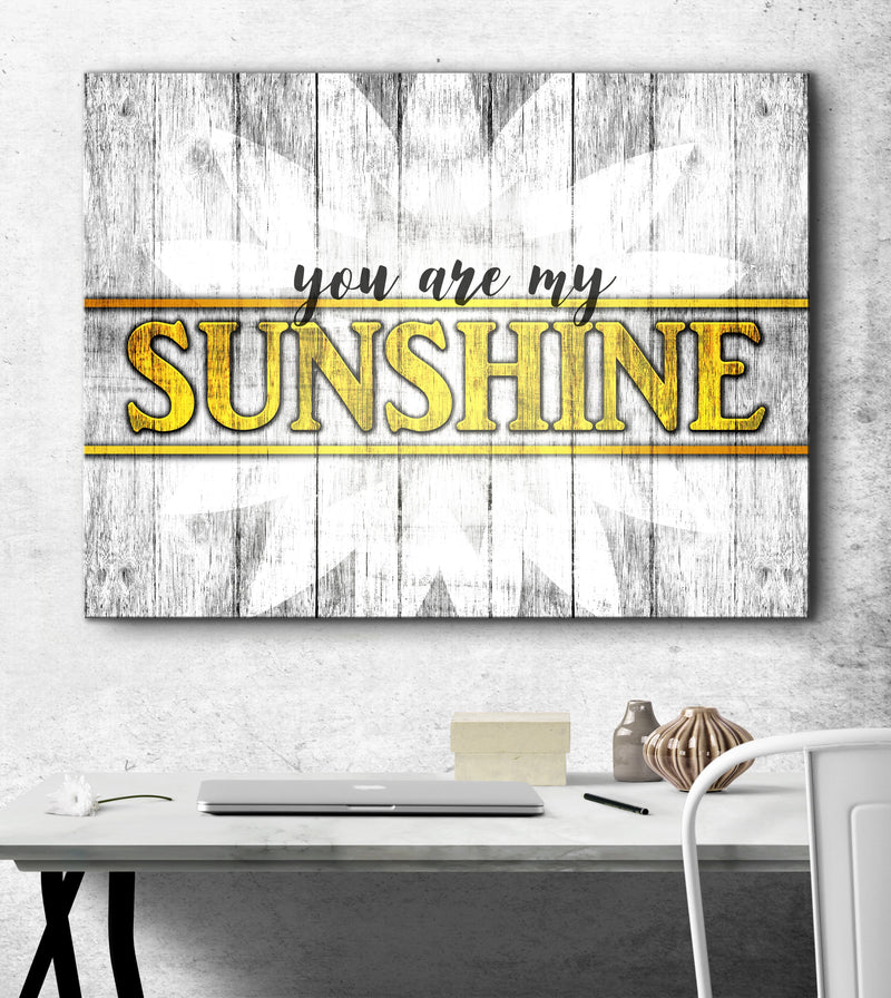 Home Wall Art: You Are My Sunshine (Wood Frame Ready To Hang)