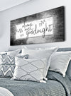 Couples Wall Art: Always Kiss Me Goodnight V4 (Wood Frame Ready To Hang)
