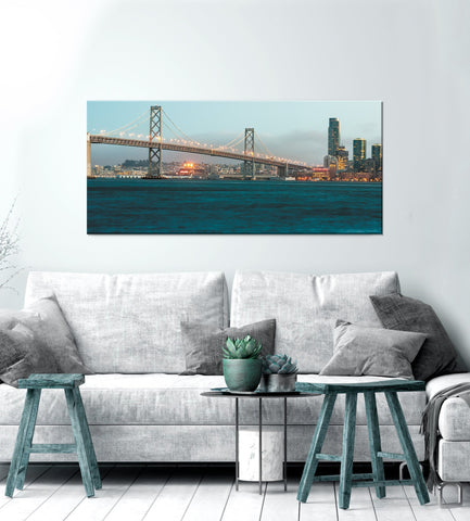 City Wall Art: Daylight Bridge (Wood Frame Ready To Hang)