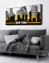 Home Wall Art: CityScape New York (Wood Frame Ready To Hang)