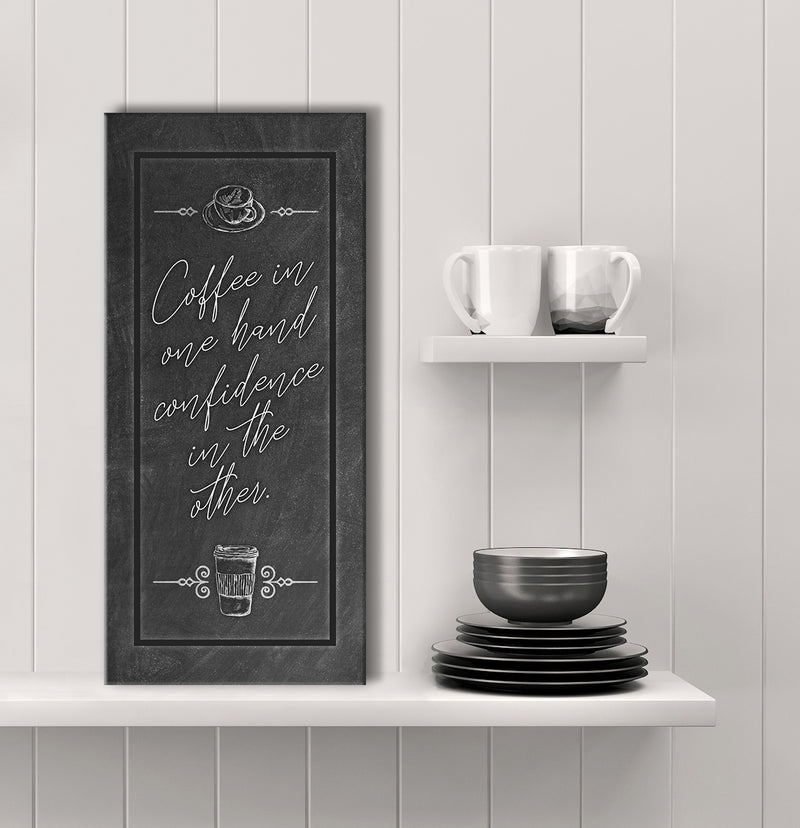 Coffee Wall Art: Coffee In One Hand (Wood Frame Ready To Hang)