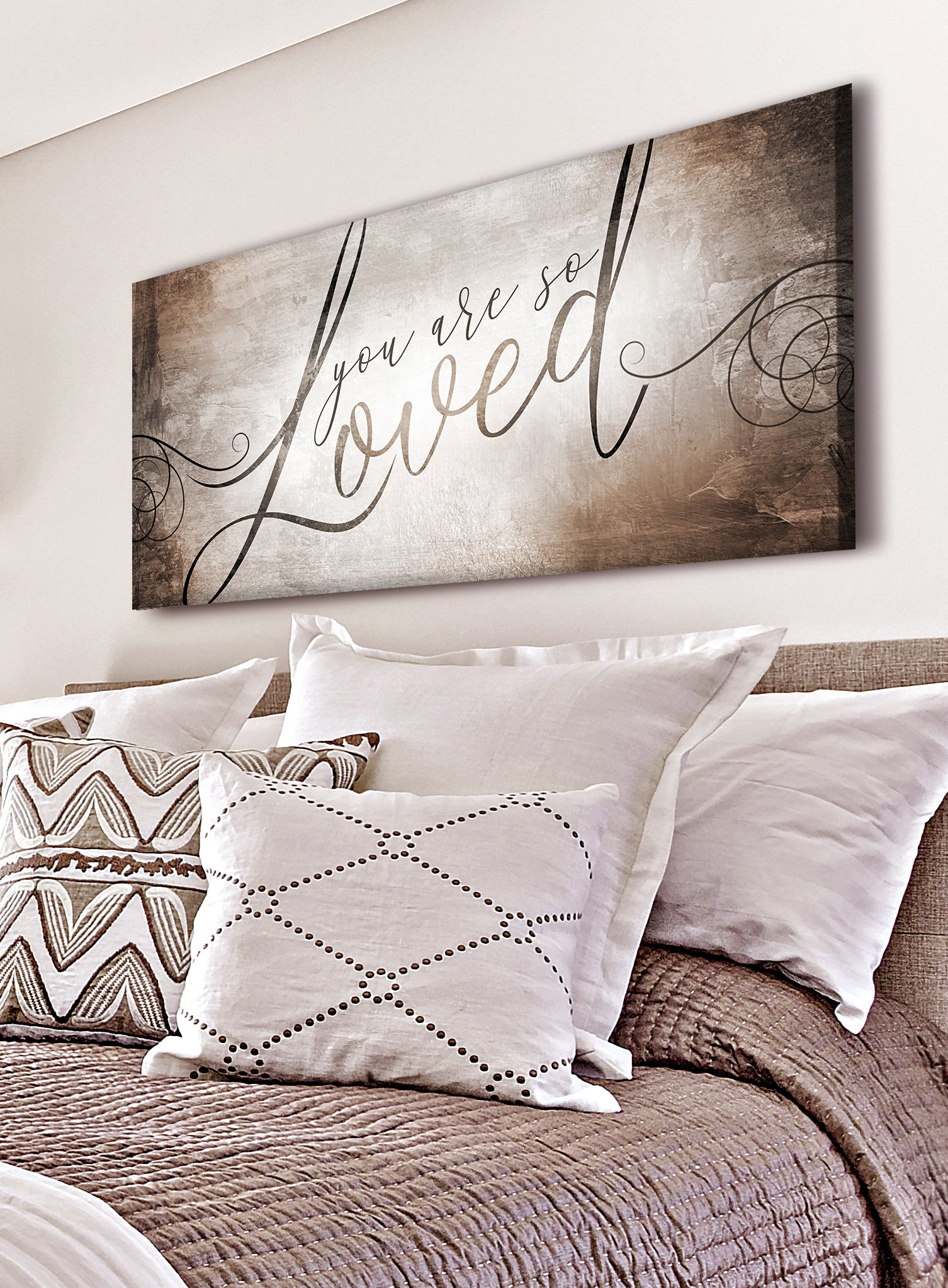 Couples Wall Art: You Are So Loved V2 (Wood Frame Ready To Hang)