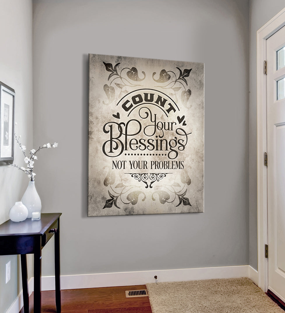 Christian Wall Art Count Your Blessings Wood Frame Ready To Hang Sense Of Art