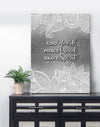 Home  Decor Wall Art:  Kind Heart Fierce Mind Brave Spirit (Wood Frame Ready To Hang)