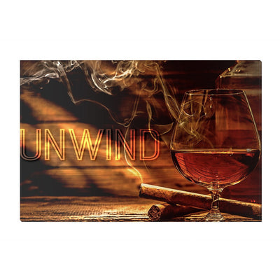 Home Wall Art: Whiskey Unwind Canvas