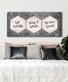 Bedroom Wall Art: Get Comfy Stay A While V2 (Wood Frame Ready To Hang)