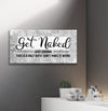 Bathroom Wall Art: Get Naked Just Kidding Wall Art (Wood Frame Ready To Hang)