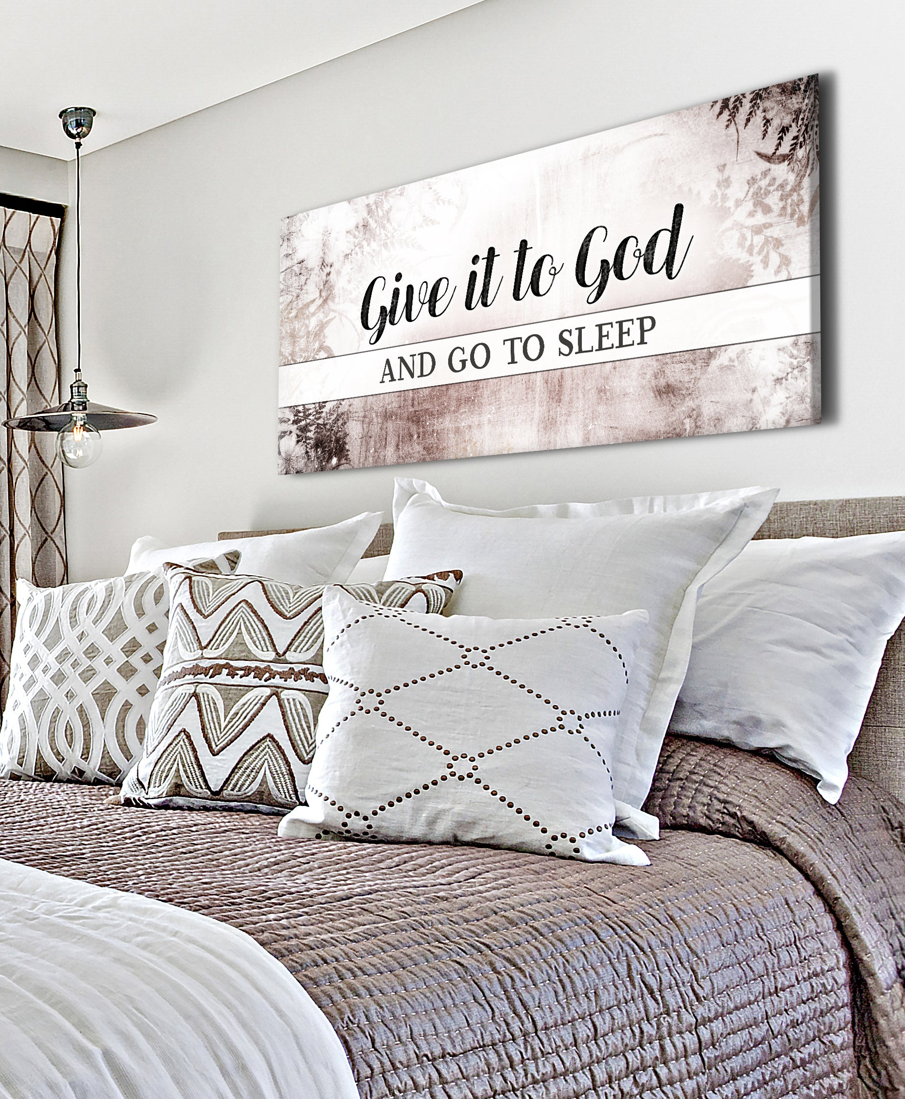 Christian Wall Art: Give It To God V3 (Wood Frame Ready To Hang)