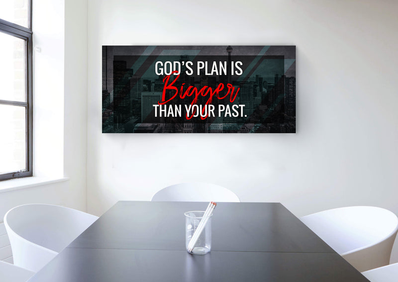 Inspire Wall Art: Gods Plan (Wood Frame Ready To Hang)