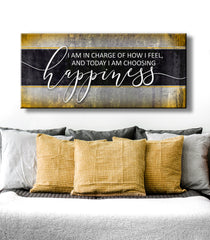 Inspire Wall Art: I Am In Charge Of How I Feel (Wood Frame Ready To Hang)