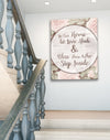 Home Wall Art: In Our Home Let Love Abide (Wood Frame Ready To Hang)