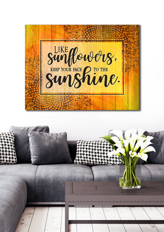 Home Decor Art: Like Sunflowers (Wood Frame Ready To Hang)
