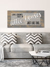 Home Wall Art: Love Grows Best (Wood Frame Ready To Hang)