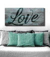 Couples Wall Art: Love Word (Wood Frame Ready To Hang)