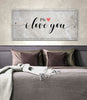Image of Couples Wall Art: P.S. I Love You (Wood Frame Ready To Hang)