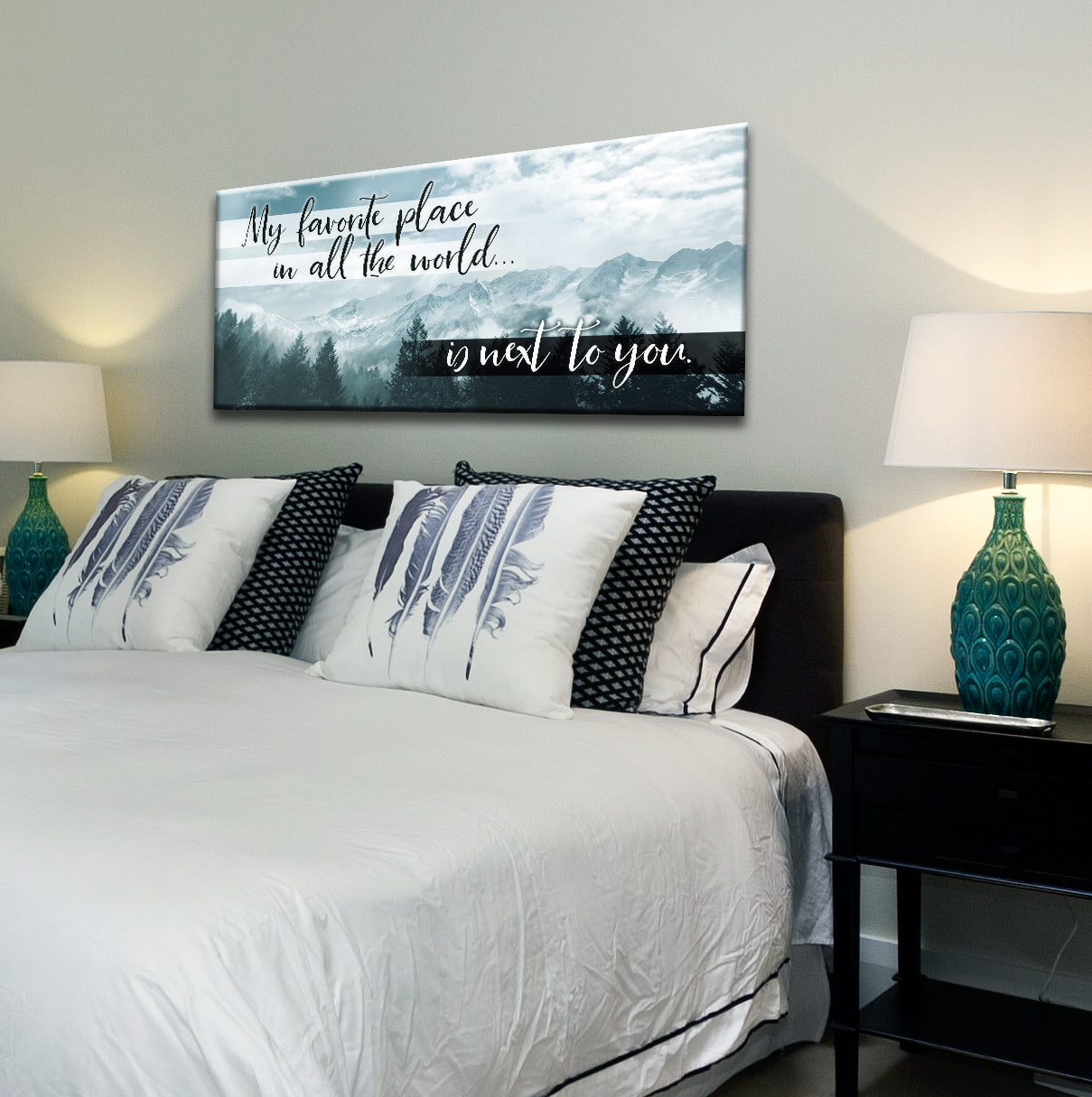 Bedroom Wall Art: Next To You Wall Art (Wood Frame Ready ...