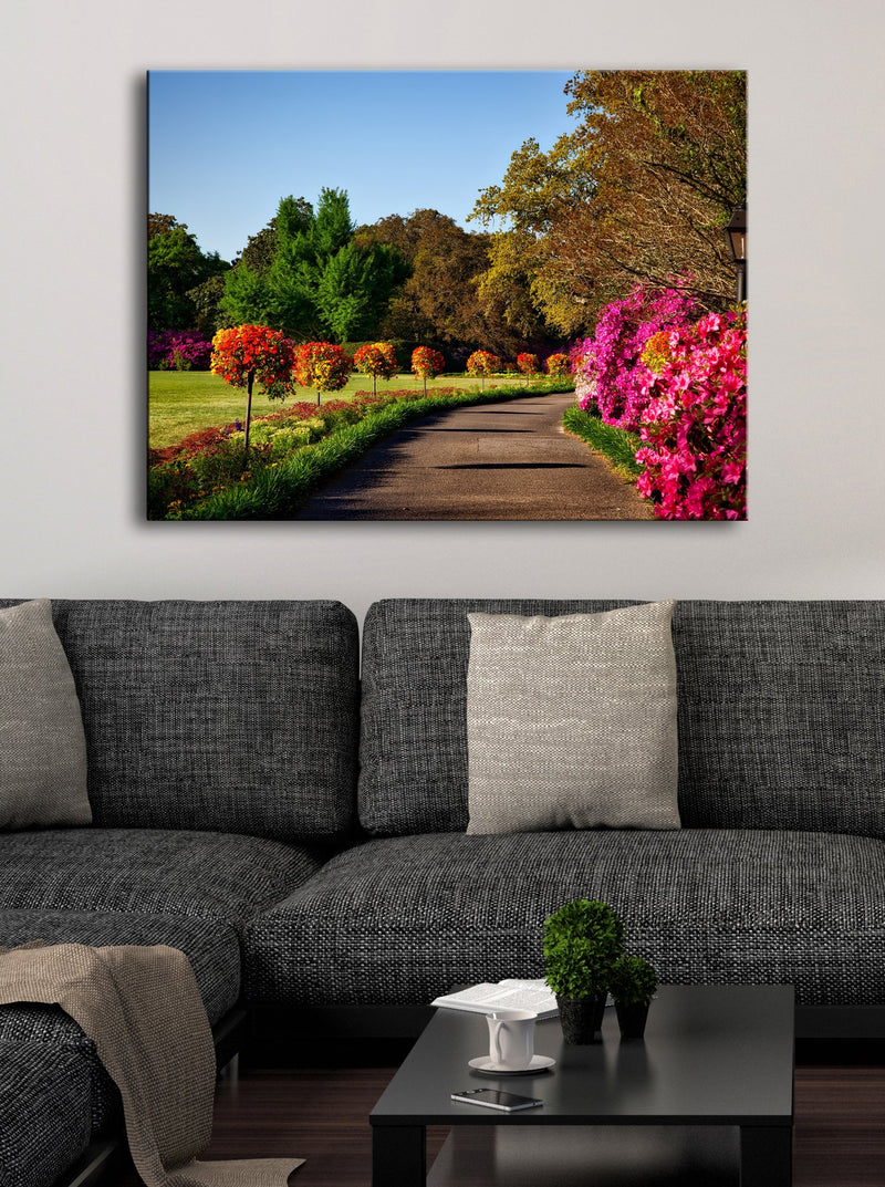 Road Wall Art: Summer Walk (Wood Frame Ready To Hang)