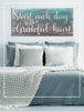 Image of Home Decor Wall Art: Start Each Day With A Grateful Heart (Wood Frame Ready To Hang)