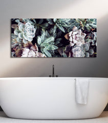 Plant Wall Art: Succulents Pattern (Wood Frame Ready To Hang)