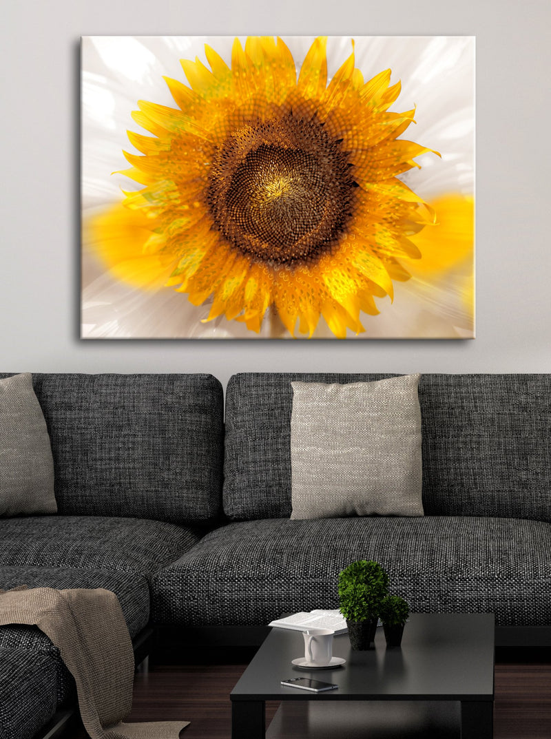 Flower Wall Art: Sunflower Pop (Wood Frame Ready To Hang)
