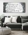 Home Wall Art: The best things in life are the people you love (Wood Frame Ready To Hang)