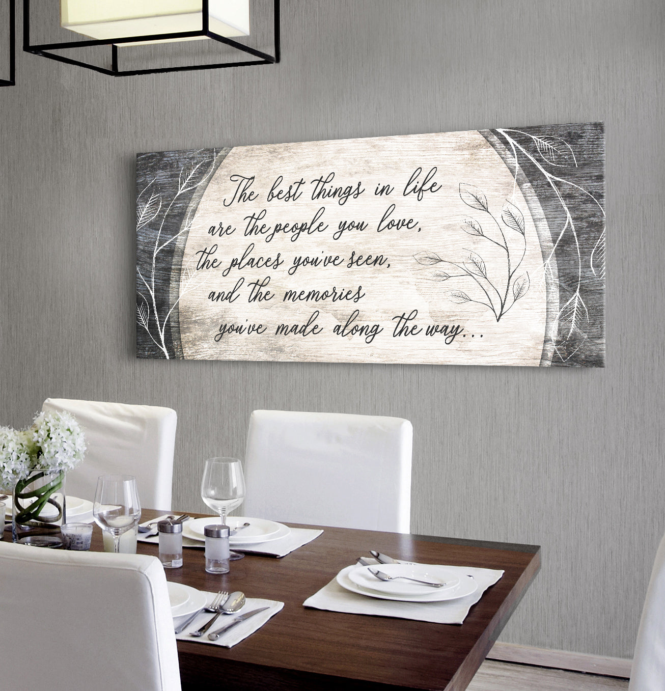 Home Decor Wall Art: The Best Things In Life Are The People You Love (