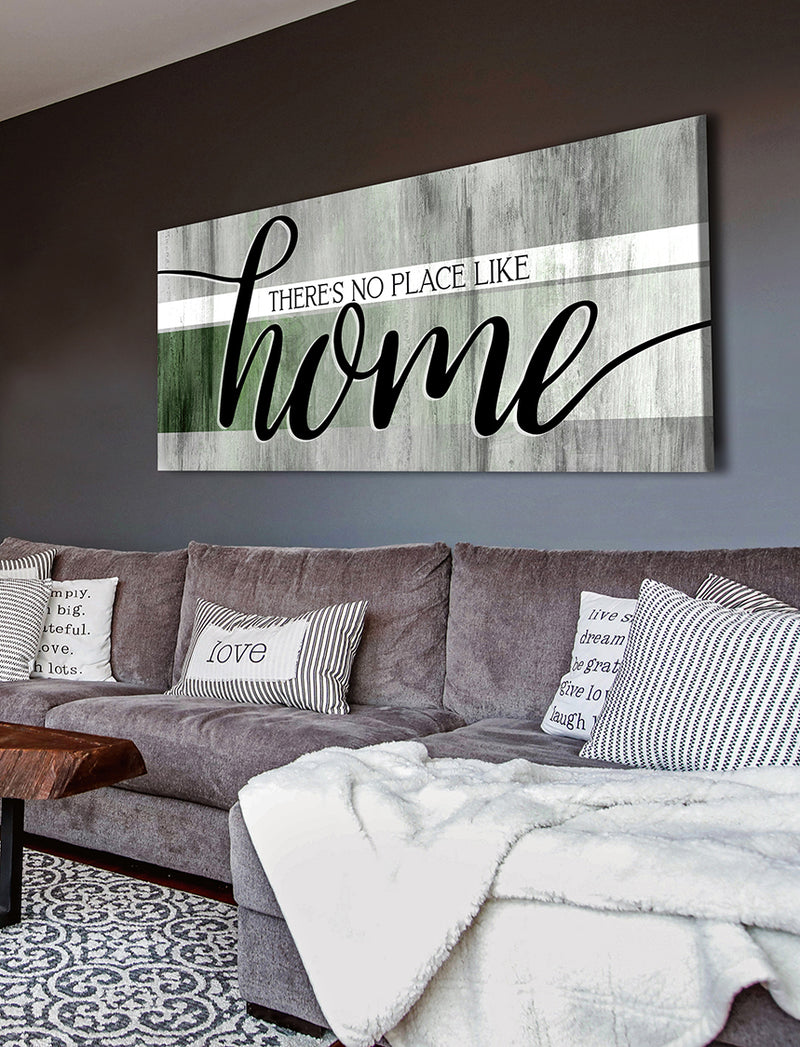 Home Wall Art: There's No Place Like Home V9 (Wood Frame Ready To Hang)