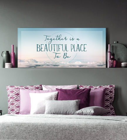 Couples Wall Art: Wonderful Place To Be (Wood Frame Ready To Hang)