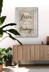 Couples Wall Art: True Love Stories Have Never Endings (Wood Frame Ready To Hang)