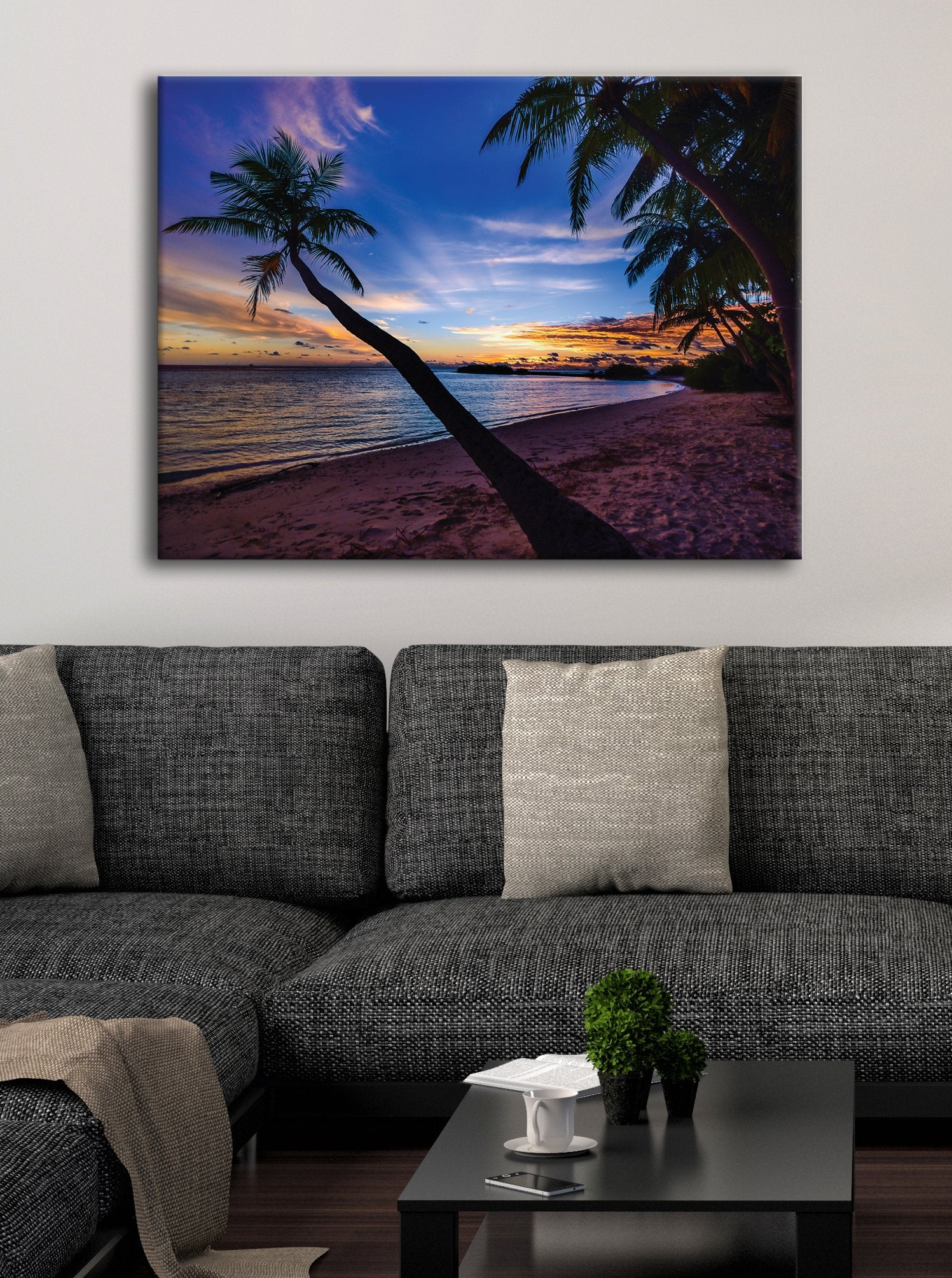 Beach Wall Art: Sunset (Wood Frame Ready To Hang)