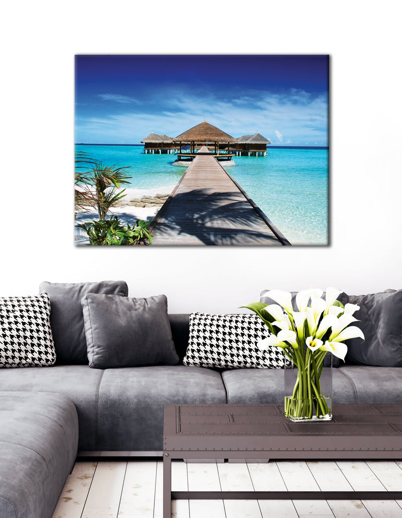 Beach Wall Art: Paradise (Wood Frame Ready To Hang)