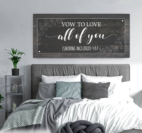 Couples Wall Art: Vow To Love All Of You (Wood Frame Ready To Hang)