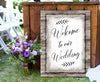 Wedding Wall Art: Welcome To Our Wedding (Wood Frame Ready To Hang)