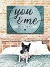 Pet Wall Art: You And Me And All The Pets (Wood Frame Ready To Hang)
