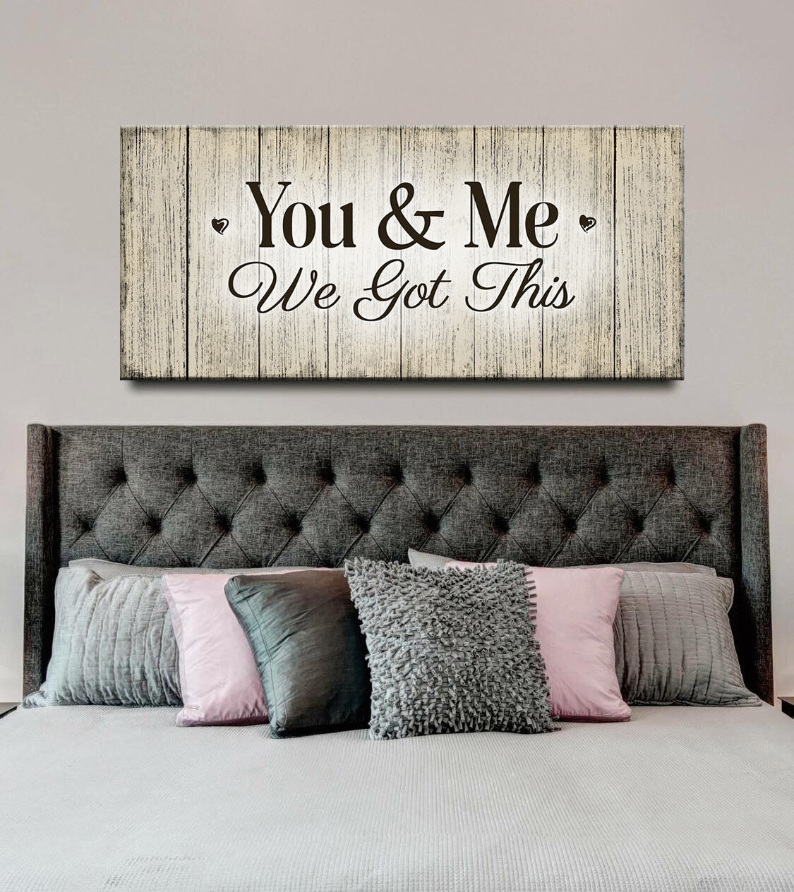 Couples Wall Art: You & Me We Got This V2 (Wood Frame Ready To Hang)