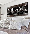 Pet Wall Art: You Me & The Dog V8 (Wood Frame Ready To Hang)