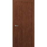 SARTODOORS Planum 0010 Interior Modern Flush Solid Wood Door Walnut Modena NO Pre-drilled