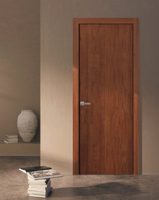Sartodoors Planum 0010 Interior Modern Flush Solid Wood Door Walnut