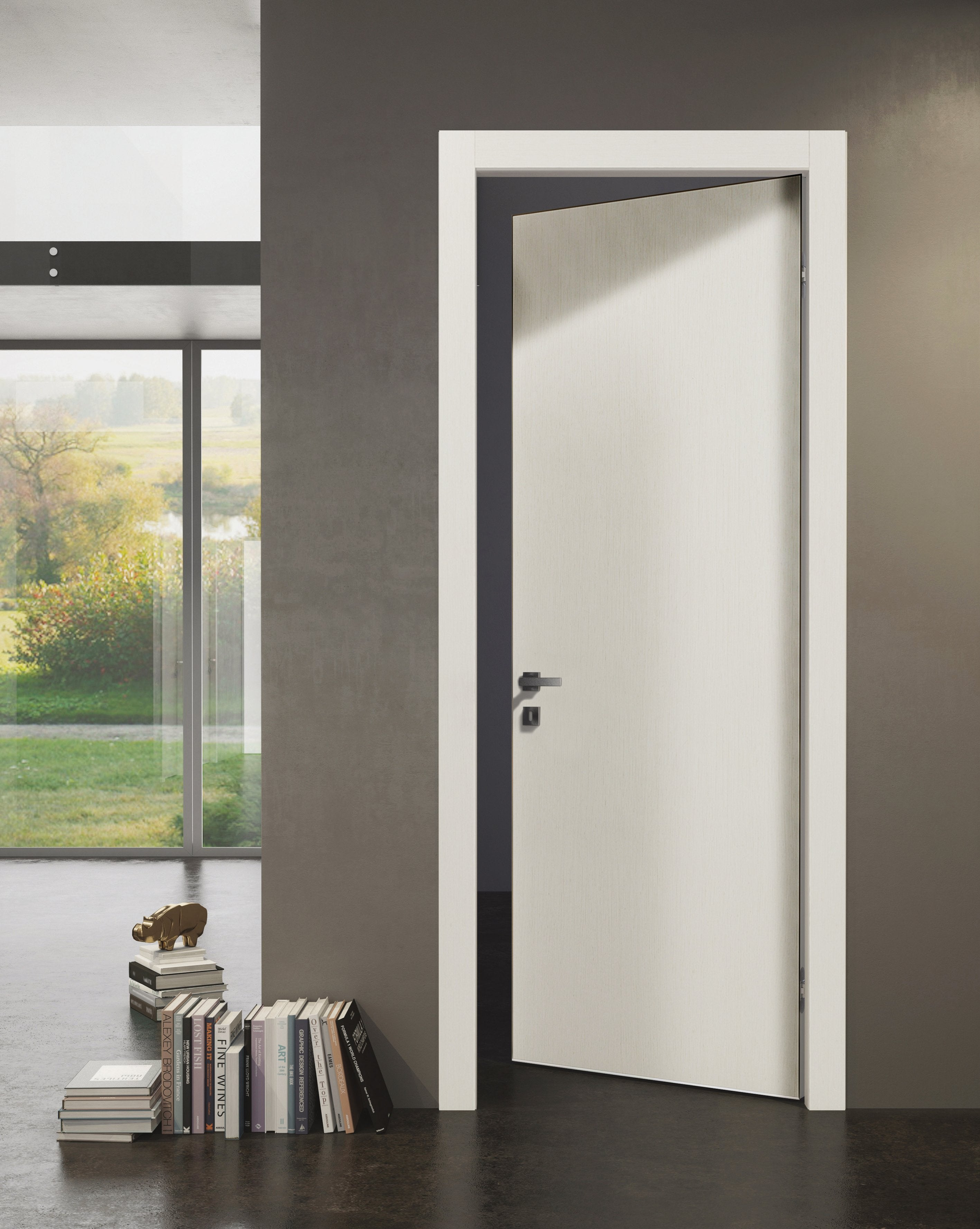 Sartodoors Planum 0010 Interior Modern Flush Solid Wood Door Patina