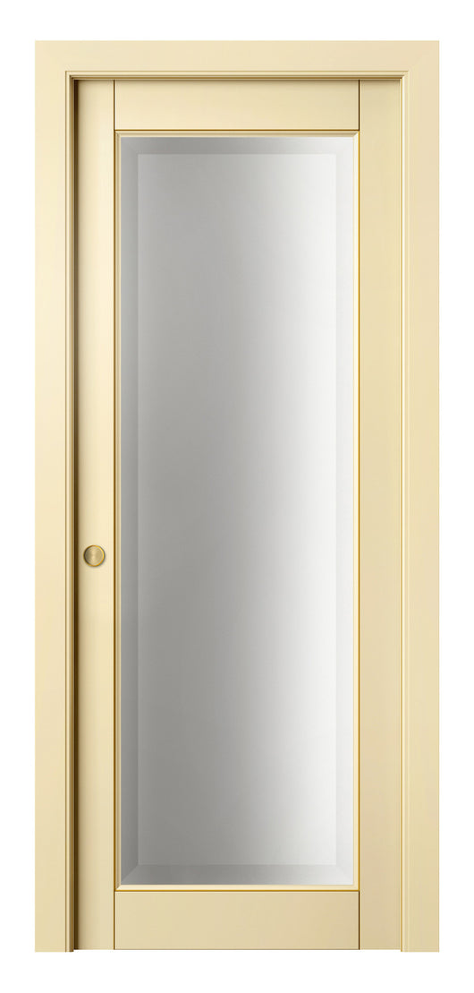 Sarto Lignum 0700 Interior Pocket Door Ivory Beech Gold Patina