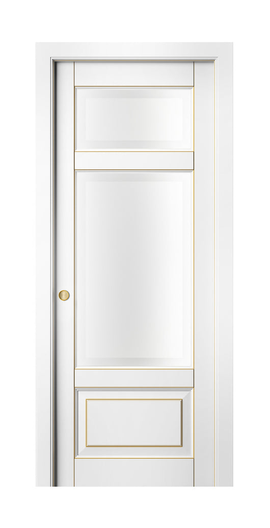 Sarto Lignum 0720 Interior Pocket Door Snow White Beech Gold Patina